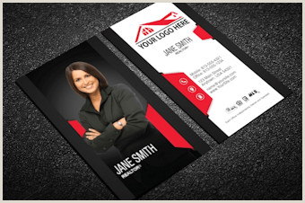 Unique Black White And Red Real Estate Business Cards Real Estate Agent Business Cards