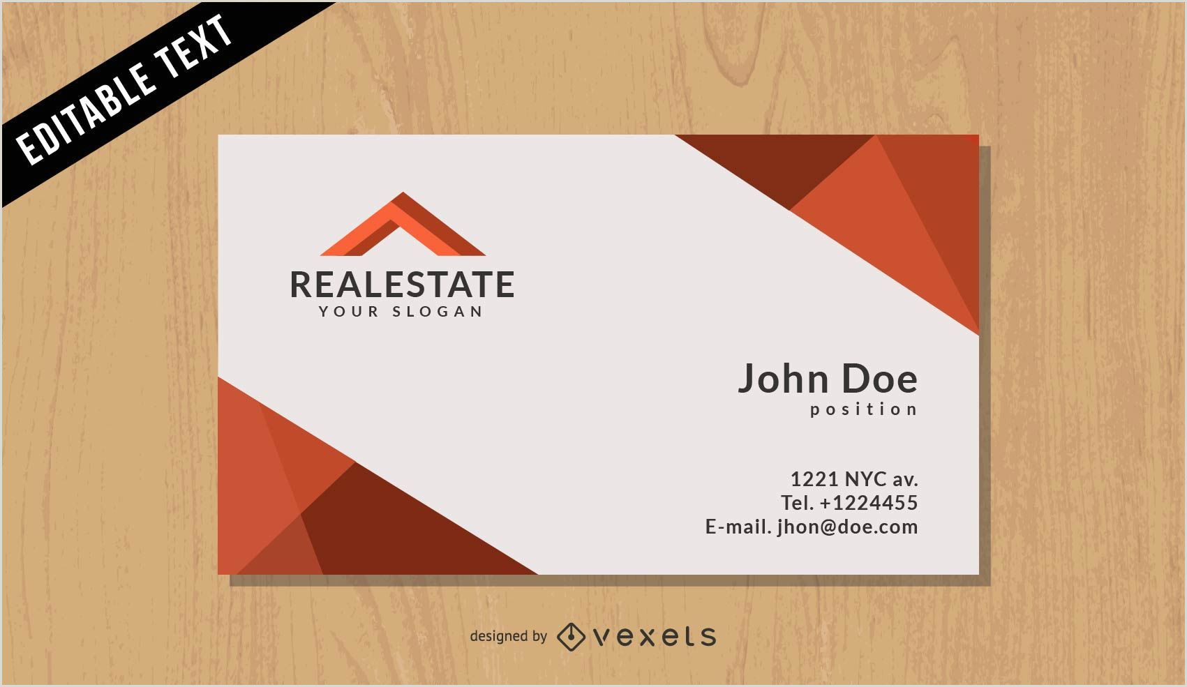 Unique Black White And Red Real Estate Business Cards Real Estate Black Business Card Vector Download