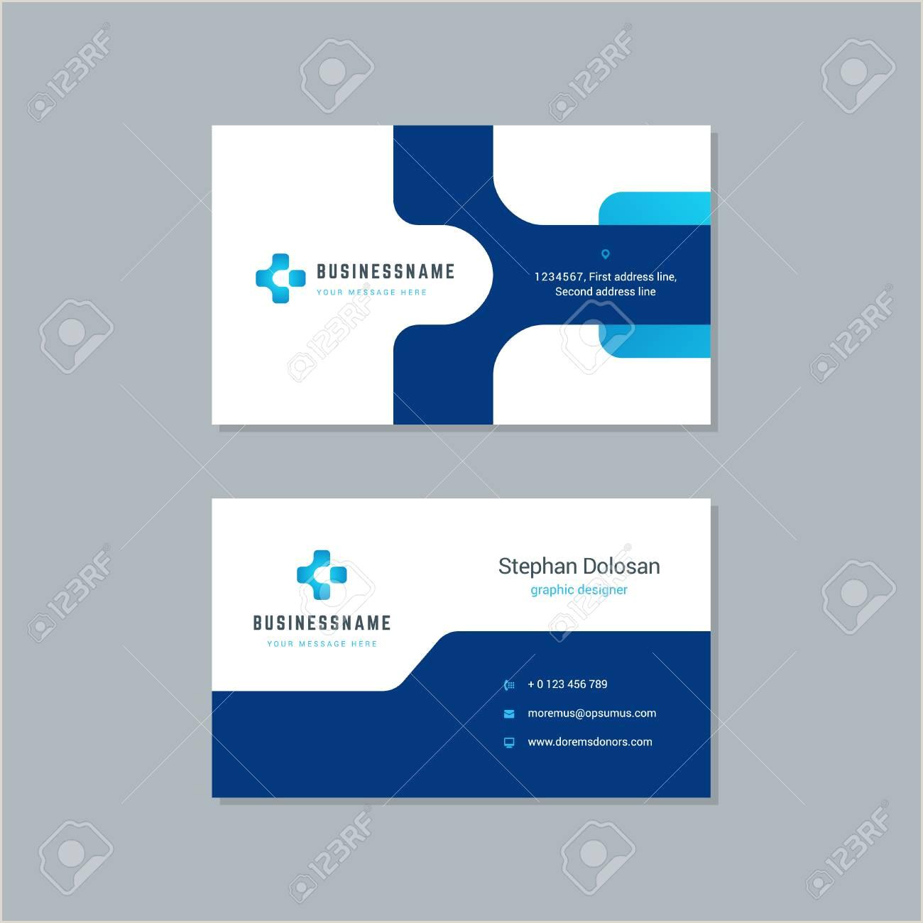 "Unique Business Cards ""nancy Nikko"" Business Card Design Trendy Blue Colors Template Modern Corporate"