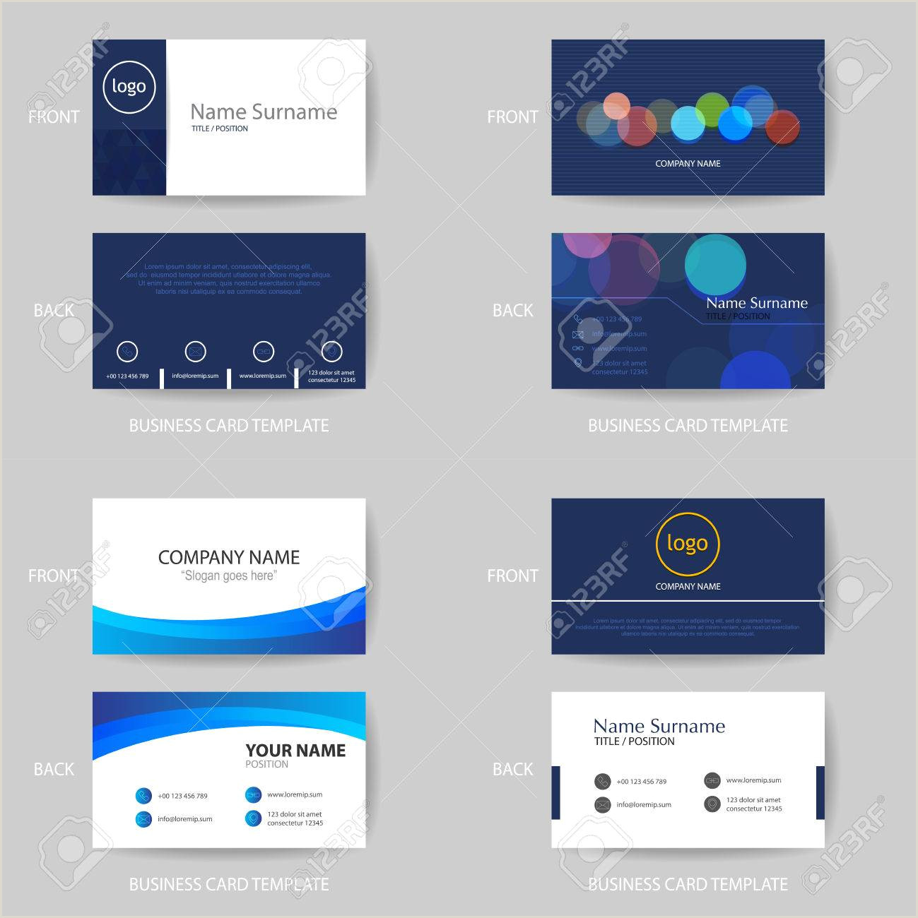"""Unique Business Cards """"nancy Nikko"""" Set Of Vector Modern And Clean Blue Color Tone Business Card"""