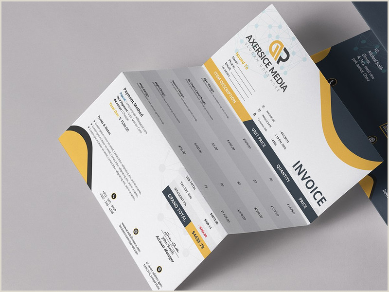 Unique Business Cards Design Modern 254 Invoices Design Inspiration Ideas And Examples Muzli