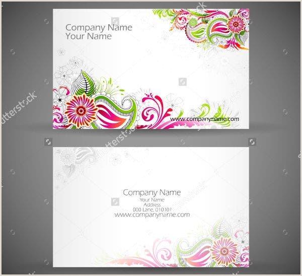 Unique Business Cards Florist 22 Examples Of Floral Business Cards Word Psd Ai