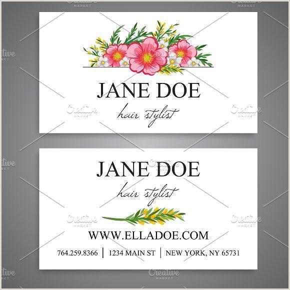 Unique Business Cards Florist Business Card Template
