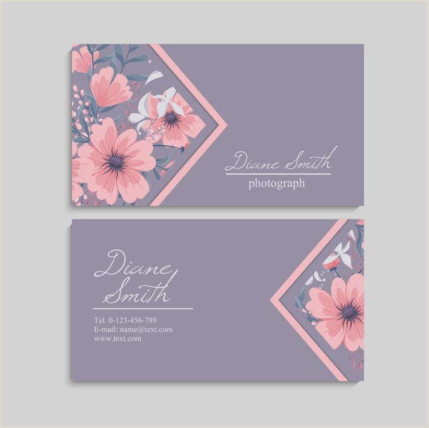 Unique Business Cards Florist Floral Style Business Card Template Vector