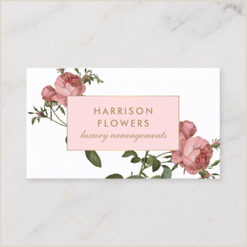 Unique Business Cards Florist Luxe Vintage Florals Pink And White Business Card