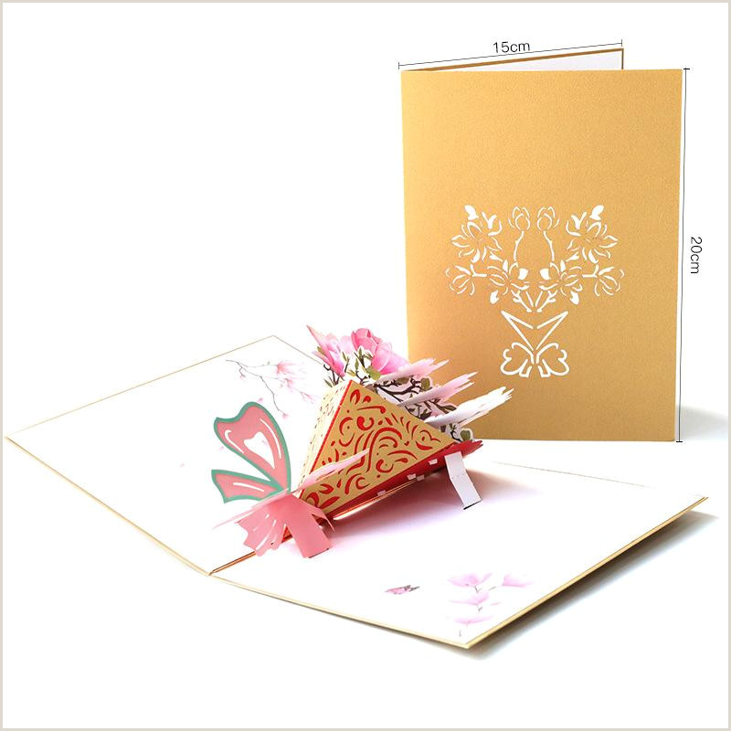 Unique Business Cards Florist Teachers Day Thanksgiving Greeting Card Birthday Greetings Creative Gift 3d Magnolia Flower Bouquet Paper Cards For Festive Free Cards To Send Free