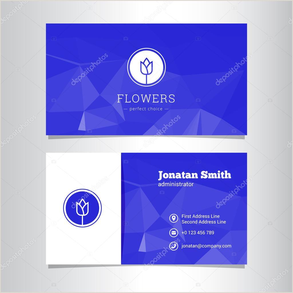 Unique Business Cards Florist Vector Elegant Flowers Shop Business Card Template — Stock
