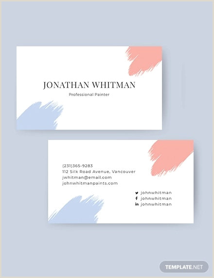 Unique Business Cards For Artists 21 Artistic Business Card Templates In Word Psd Apple