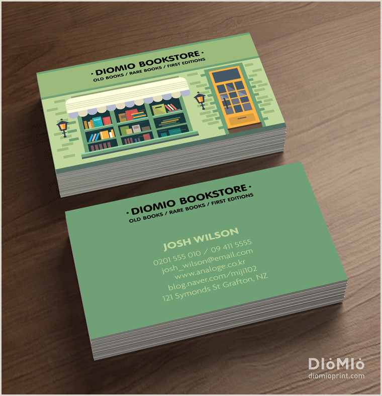 Unique Business Cards For Books Bookstore Business Cards