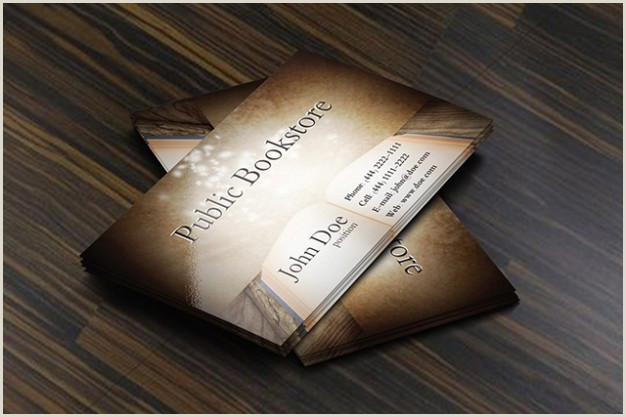 Unique Business Cards For Books Free Vector