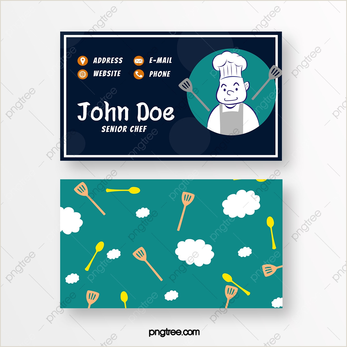 Unique Business Cards For Chefs Chef Business Card Png Vector And Psd Files