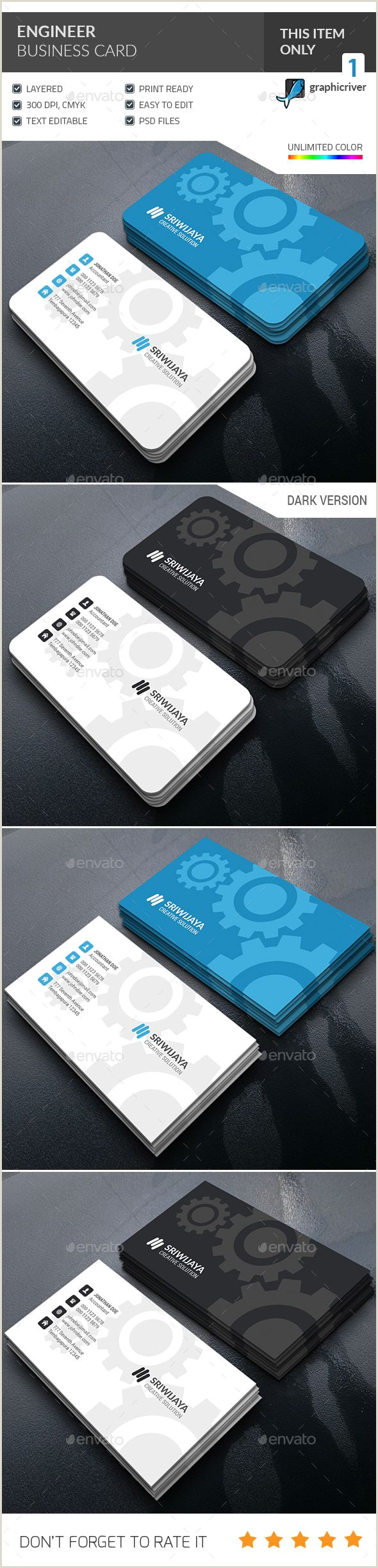 Unique Business Cards For Engineers Engineer Business Card