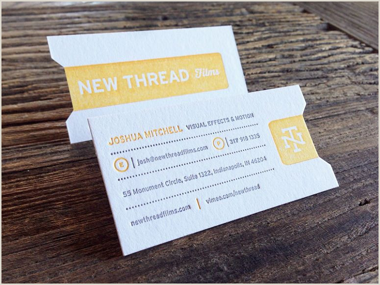 Unique Business Cards For Film New Thread S Business Cards