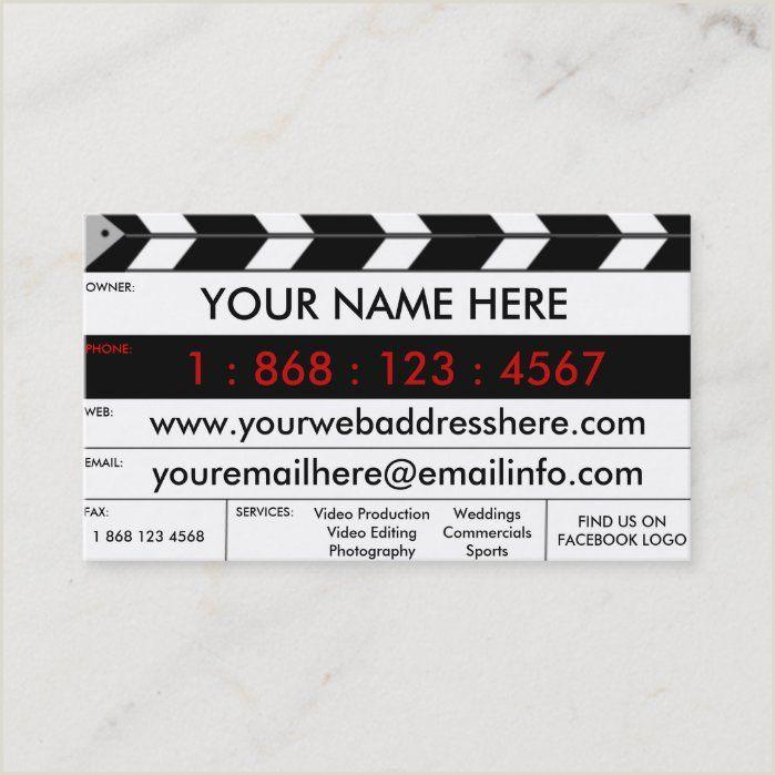Unique Business Cards For Film Production Slate Business Card