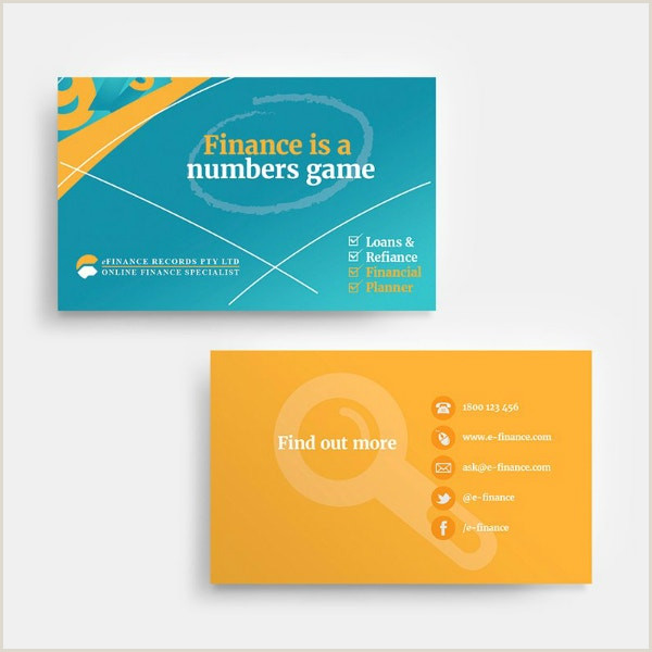 Unique Business Cards For Financial Advisors 10 Financial Business Card Templates Illustrator Ms Word