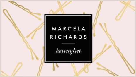 Unique Business Cards for Hair Stylist Girly Hair Salon Business Cards Page 1 Girly Business Cards