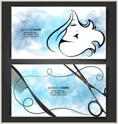 Unique Business Cards For Hair Stylist Hair Salon Business Card Vector Over 5 900