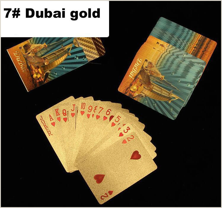 Unique Business Cards Gold Foil Durable Waterproof Plastic Playing Cards Gold Foil Poker Golden Poker Cards 24k Gold Foil Plated Playing Cards Poker Table Games Games Playing Cards