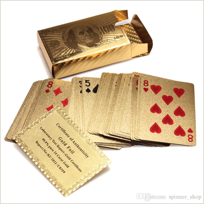 Unique Business Cards Gold Foil High Quality Special Unusual Gift 24k Carat Gold Foil Plated