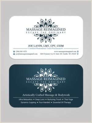 Unique Business Cards Massage Massage Business Cards
