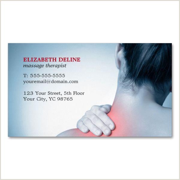 Unique Business Cards Massage Modern Elegant Blue Massage Therapist Business Card