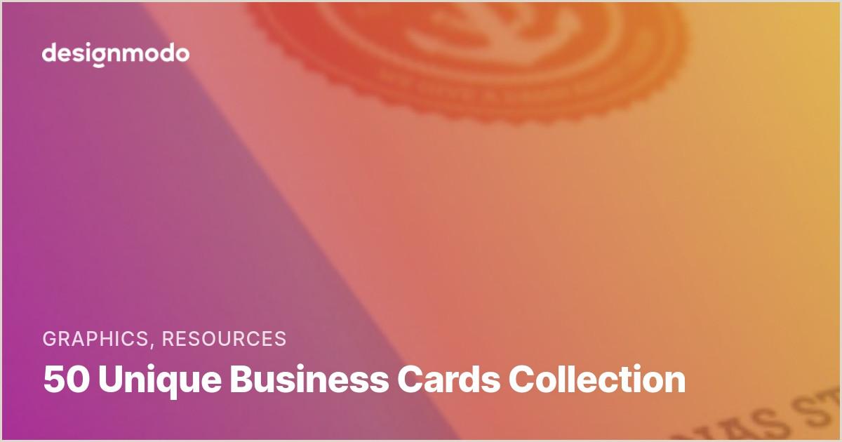 Unique Business Cards Model 50 Unique Business Cards Collection