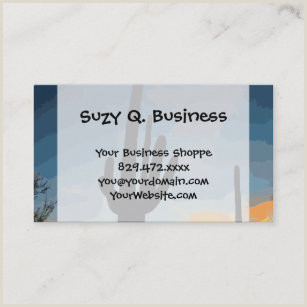 Unique Business Cards Online In Arizona Arizona Desert Business Cards Starting At $15 Per Pack