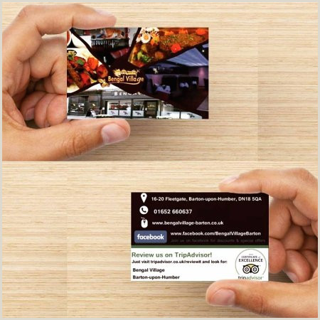 Unique Business Cards Photography Business Cards Picture Of Bengal Village Barton Upon