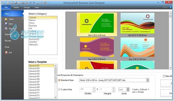 Unique Business Cards Program Free Download Eximioussoft Business Card Designer Pro 3 31 Free Download
