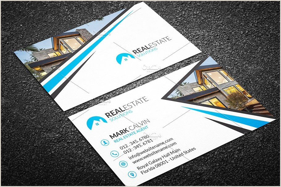 Unique Business Cards Real Estate Real Estate Business Card 38 Business Estate Real Templates