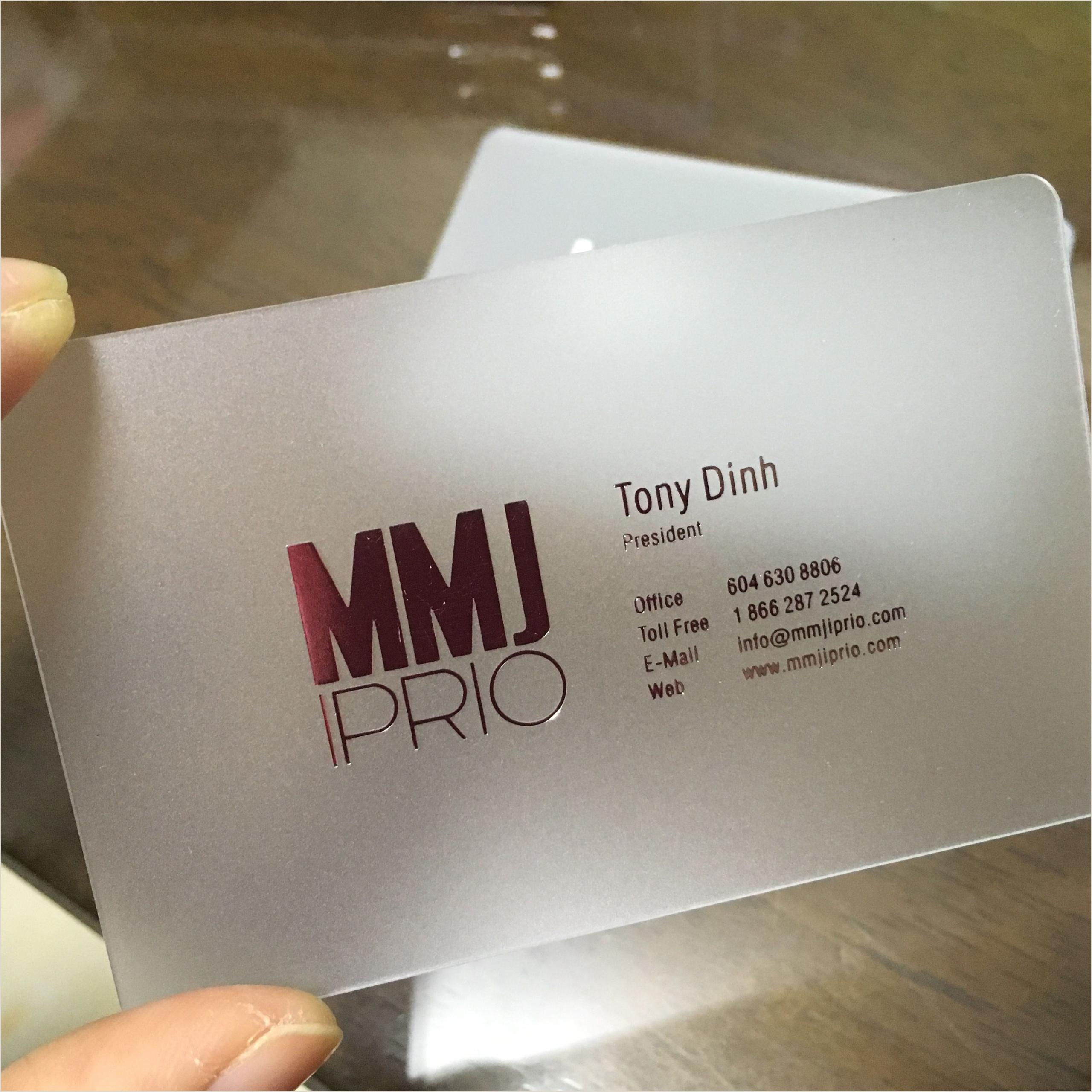 Unique Business Cards Transparent Transparent Business Cards Clear Cards