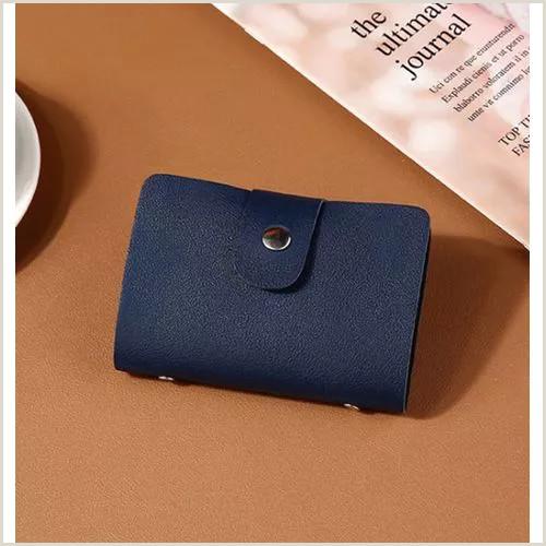 Unique Business Crredit Cards New Pu Leather Function 24 Bits Card Case Business Card Holder Men Women Credit Passport Card Bag Id Passport Card Wallet H088 Vova