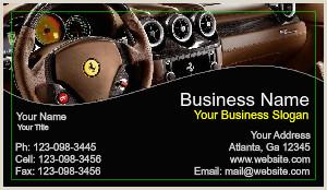 Unique Car Salesman Business Cards General Auto Dealer Business Cards