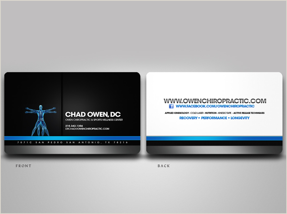 Unique Chiropractic Business Cards Chiropractic Business Card
