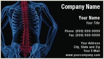 Unique Chiropractic Business Cards Chiropractor Business Cards
