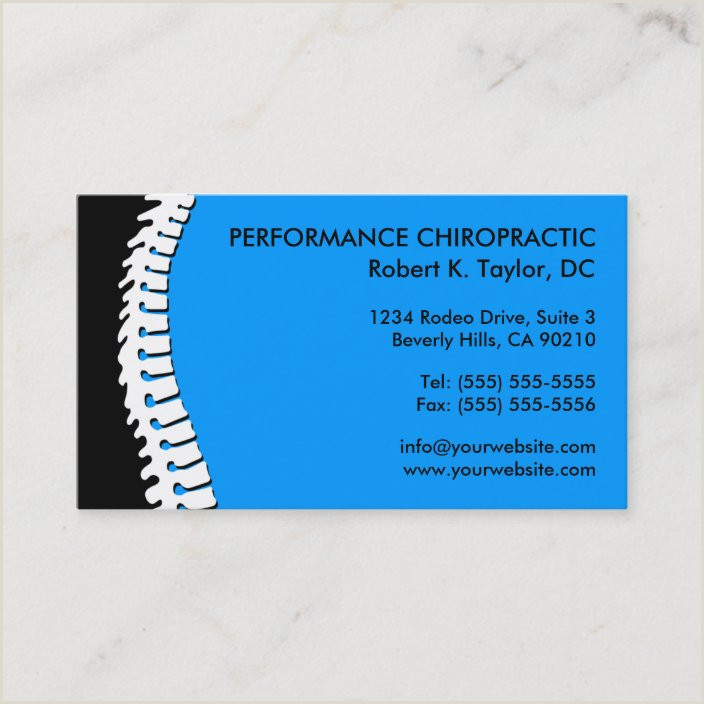 Unique Chiropractic Business Cards Spine Cutout Chiropractic Business Cards