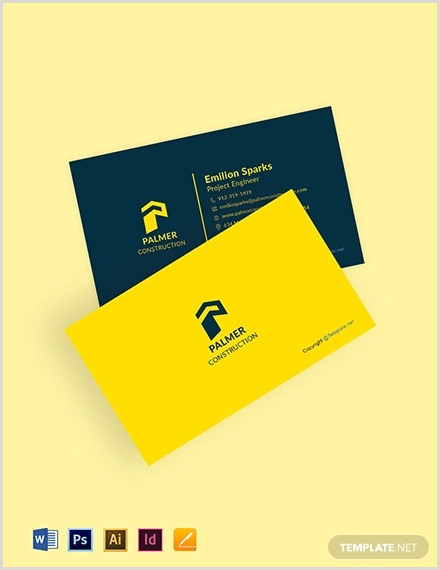 Unique Construction Business Cards 20 Construction Business Card Designs And Examples Psd