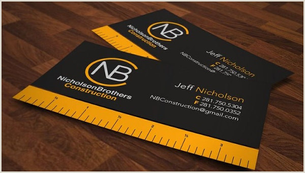 Unique Construction Business Cards 35 Free Construction Business Template Ms Word Coreldraw