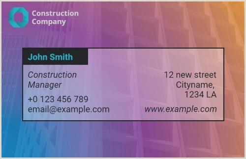 Unique Construction Business Cards Customize 60 Powerful Construction Business Cards In Seconds