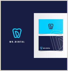 Unique Dental Business Cards Dental Business Card Template Vector Over 1 300