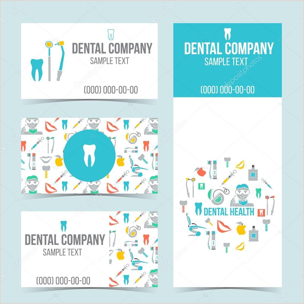 Unique Dental Business Cards Set Of Dental Business Cards