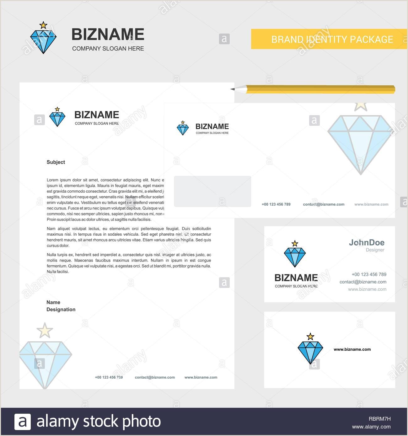 Unique Diamond Business Cards Diamond Business Letterhead Envelope And Visiting Card
