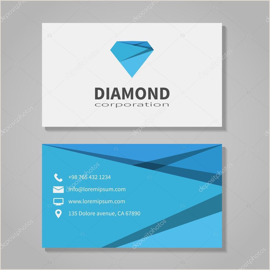 Unique Diamond Business Cards Diamond Corporation Business Card Template