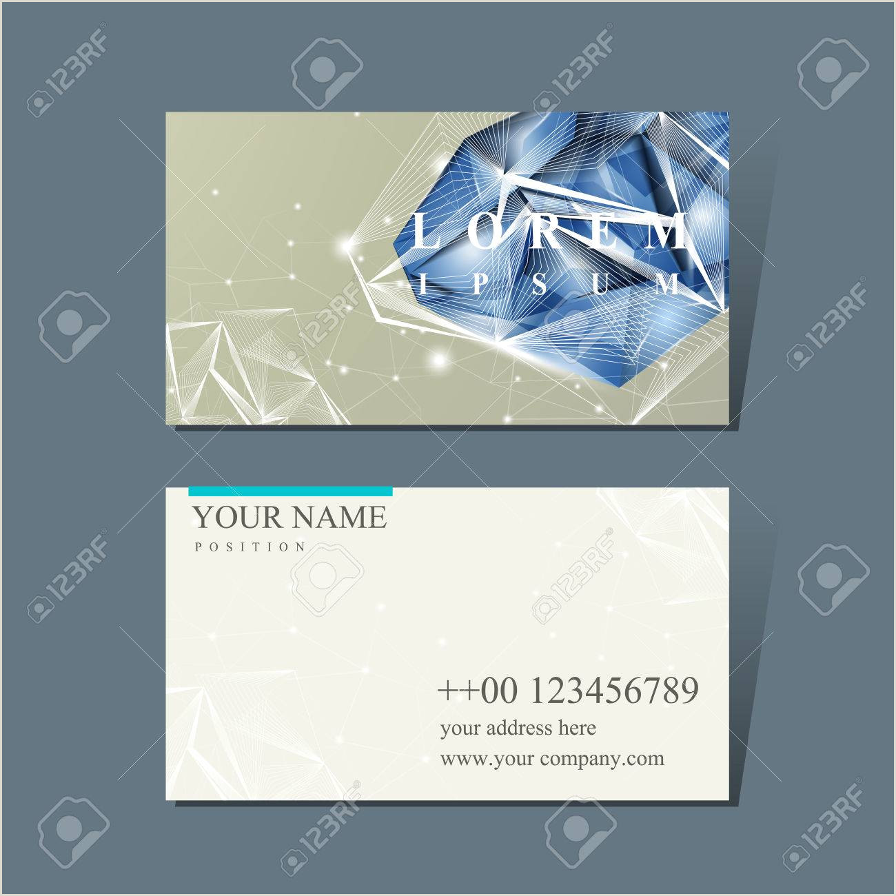 Unique Diamond Business Cards Modern Design For Business Card With Diamond Element