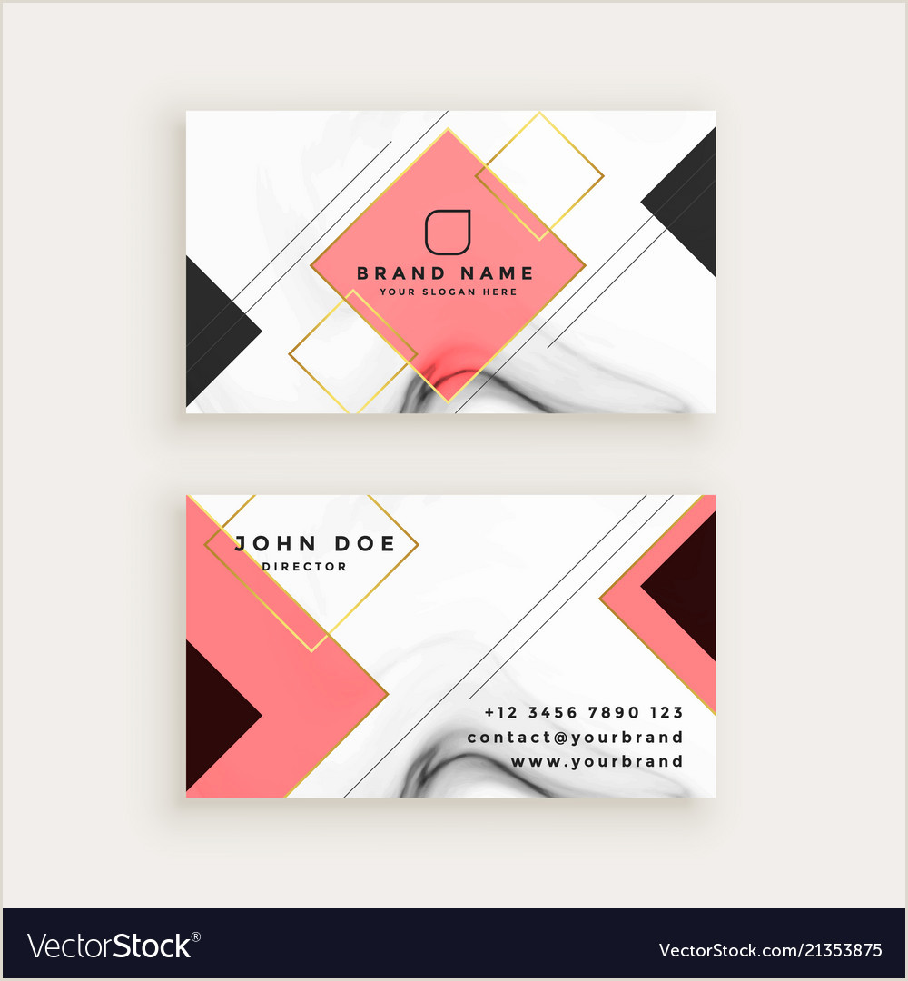 Unique Diamond Business Cards Professional Marble Business Card With Diamond Vector Image