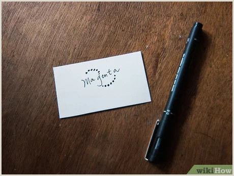 Unique Entrepreneur Business Cards 3 Ways To Make A Business Card Wikihow