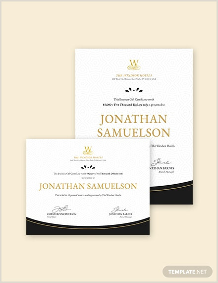 Unique Gift Cards For Business 19 Business Gift Certificate Templates Word Psd Ai