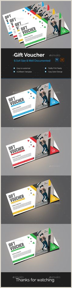 Unique Gift Cards For Business 200 Best Special Gift Voucher Templates Images