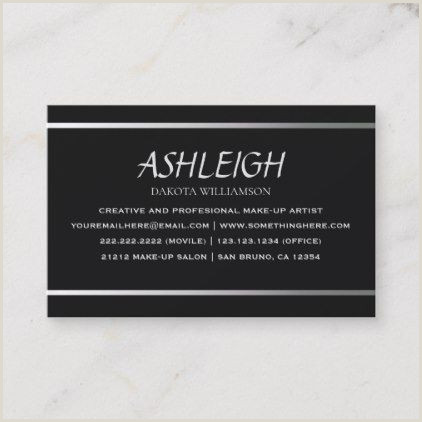 Unique Gift Cards For Business Elegant Black With Silver Typography Business Card