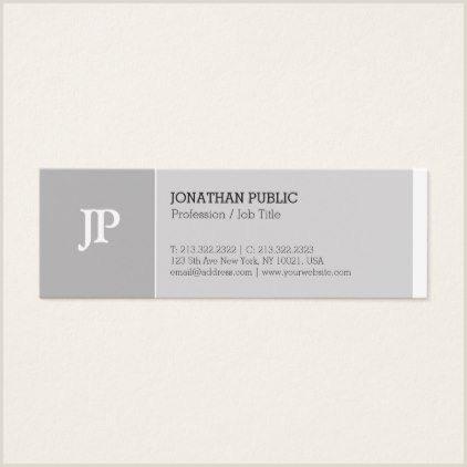 Unique Gift Cards For Business Trending Elegant Monogram Creative Plain Luxury Mini